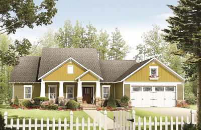 Craftsman Home Plan with Class - 51064MM thumb - 01