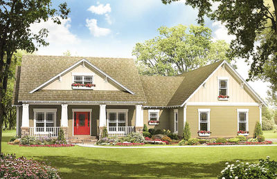 Flexible Craftsman Plan with Options - 51082MM thumb - 01