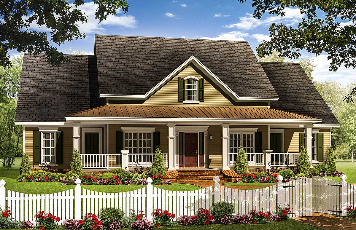 Charming Country Porch 51092mm Architectural Designs