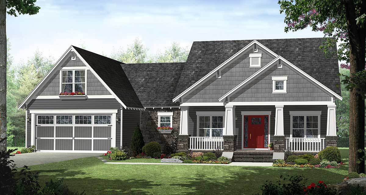 4 Bedroom Craftsman With Smart Looks - 51116Mm | Architectural