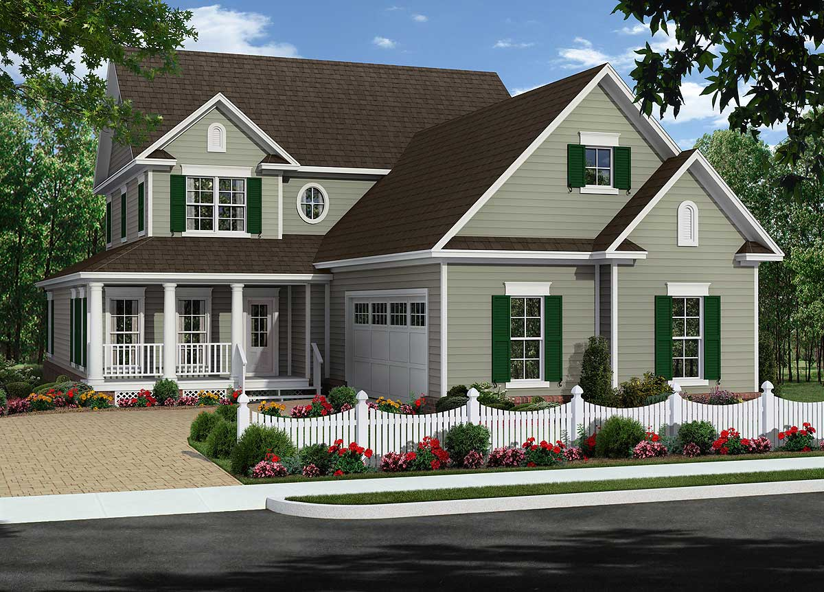 Two Covered Porches And 2-story Great Room - 51117mm
