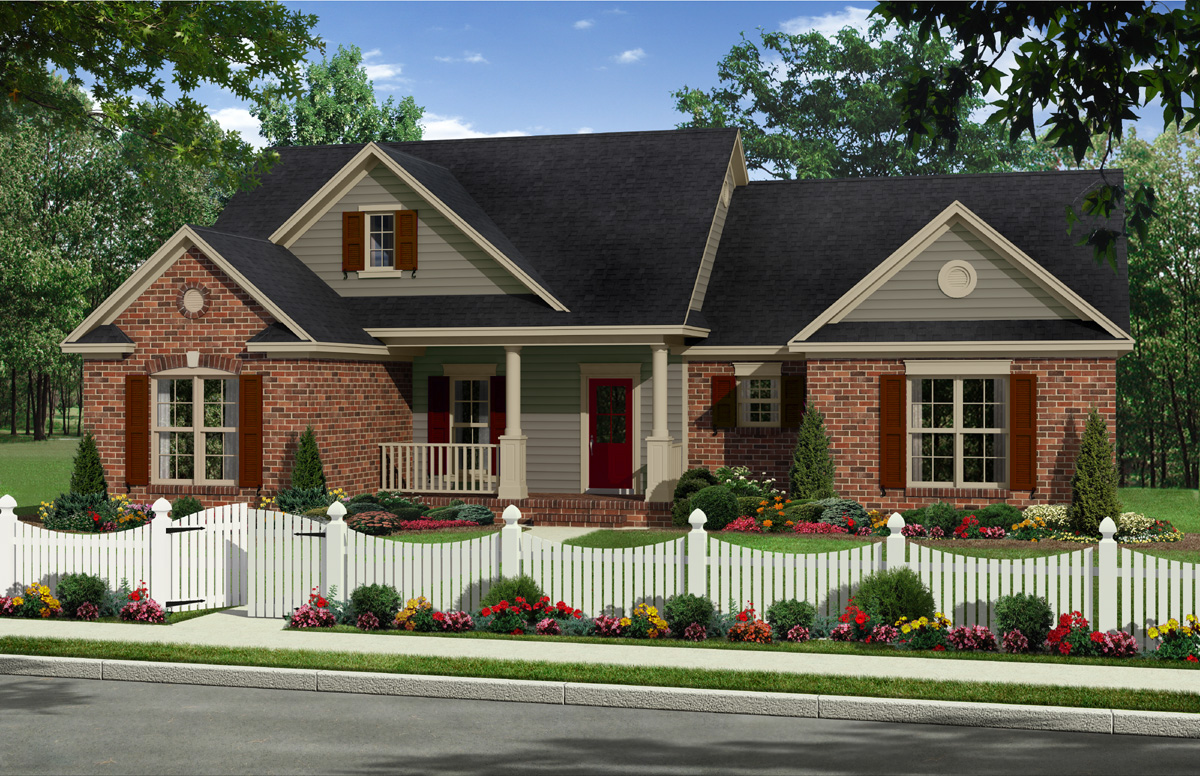 Traditional country house plan 51127mm architectural for Traditional country house plans