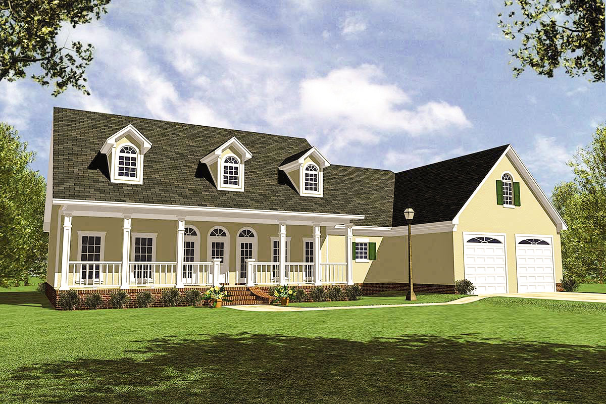 Traditional southern home plan 5116mm architectural for Traditional southern house plans