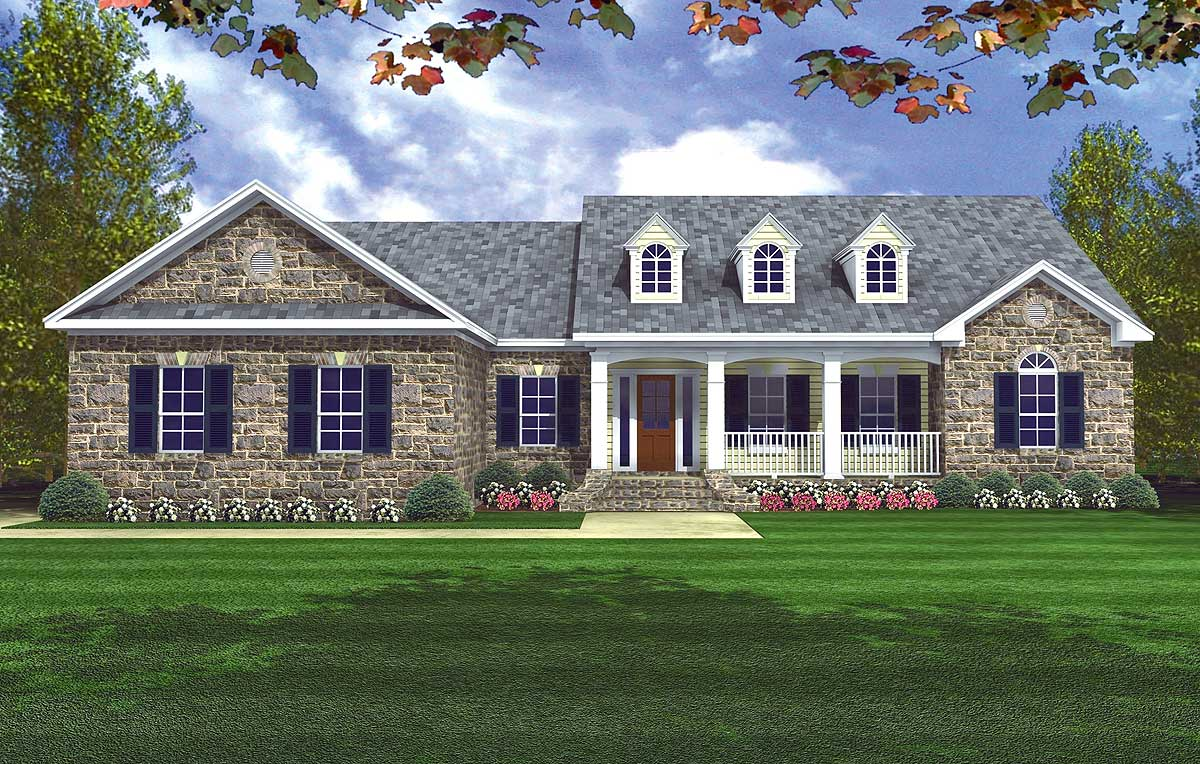 Charming cottage appeal 5126mm 1st floor master suite for Usda house plans