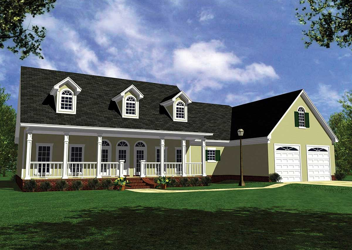 Stucco version of popular house plan 5131mm 1st floor for Usda house plans