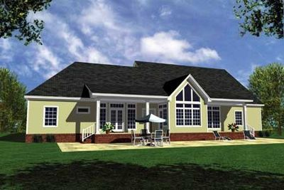 Stucco Version of Popular House Plan - 5131MM thumb - 02