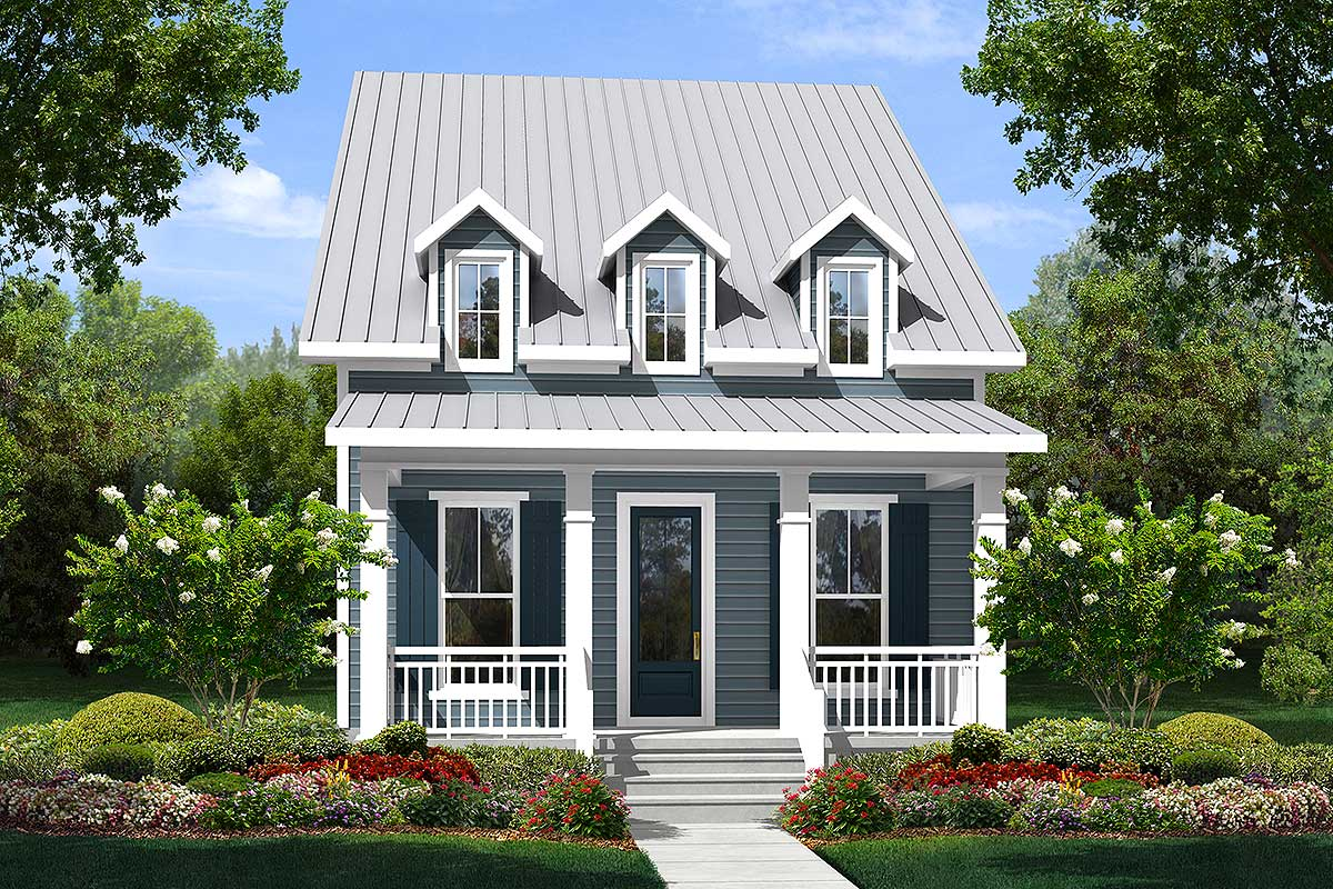 Narrow Cottage With 3 Dormers 51713hz 1st Floor Master