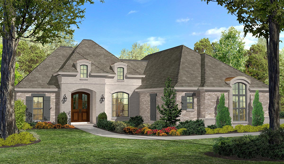 3 bed french split house plan 51714hz 1st floor master for Architecturaldesigns com house plan 56364sm asp