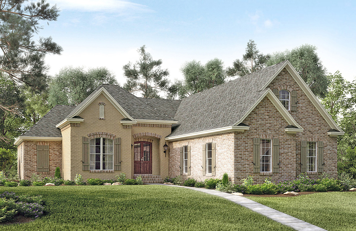 3 bed country french with bonus room 51718hz 1st floor for Country house collections