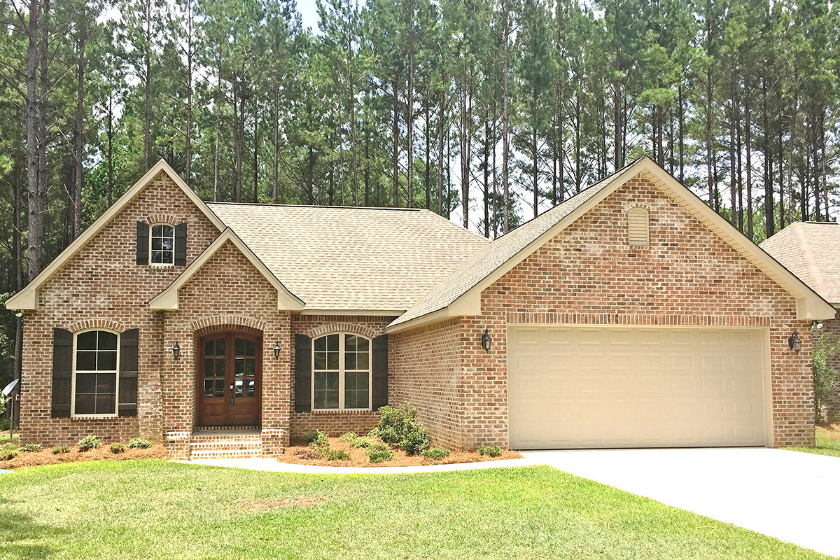 All Brick Traditional House Plan 51723hz 1st Floor
