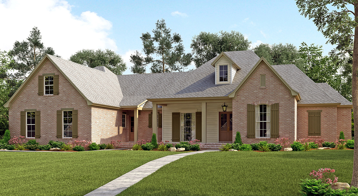 4 bed french country with upstairs expansion 51726hz for House expansion plans