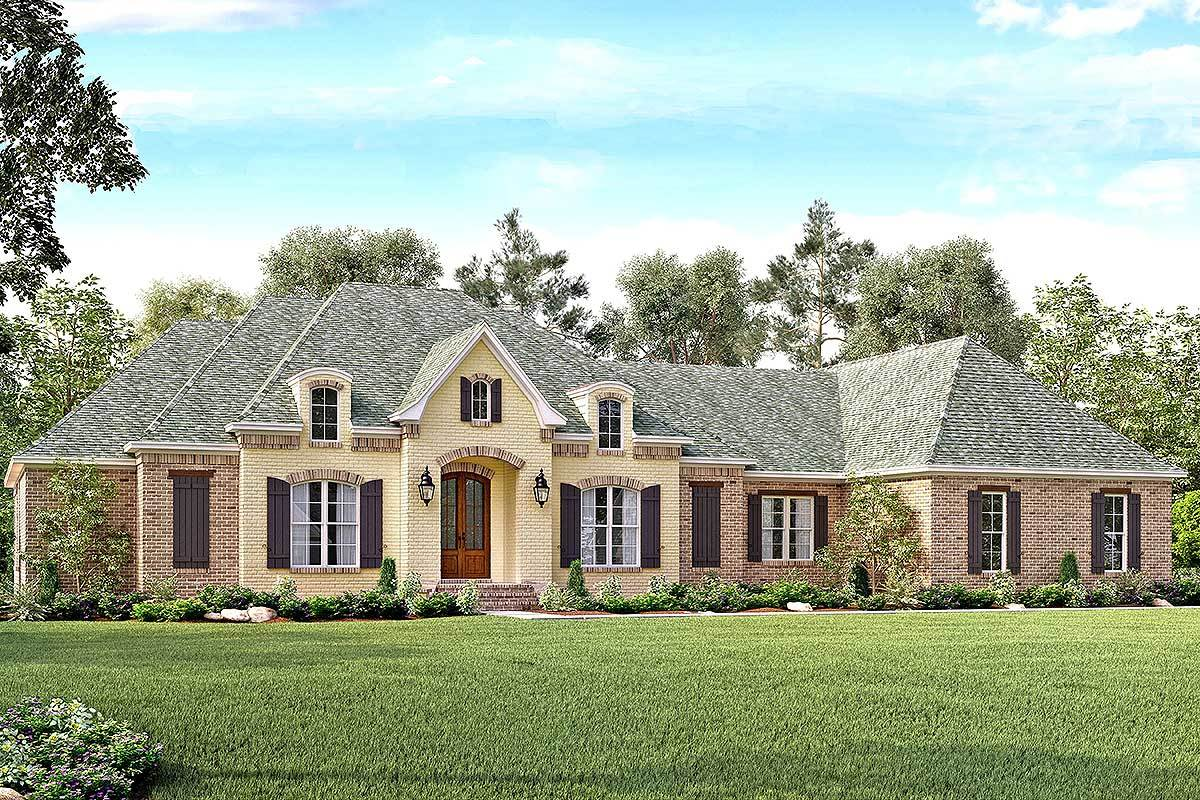 Flexible french country with bonus room 51727hz for Large french country house plans