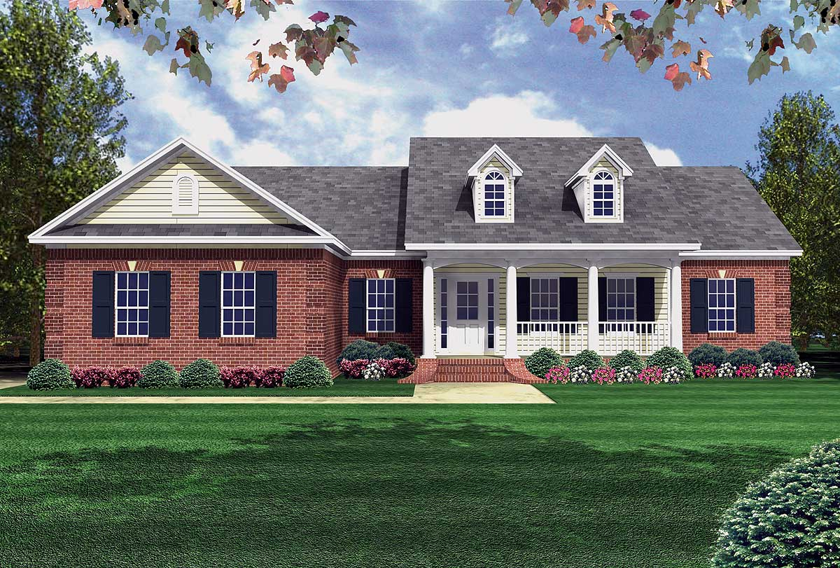 Functional Split Home Plan   5186MM | Architectural Designs   House Plans