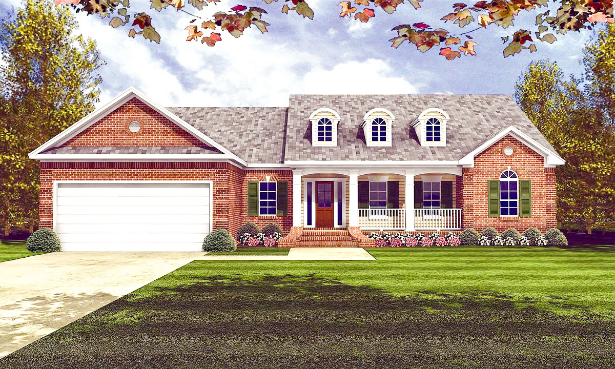 Classic traditional house plan 5197mm architectural for Classic cottage plans
