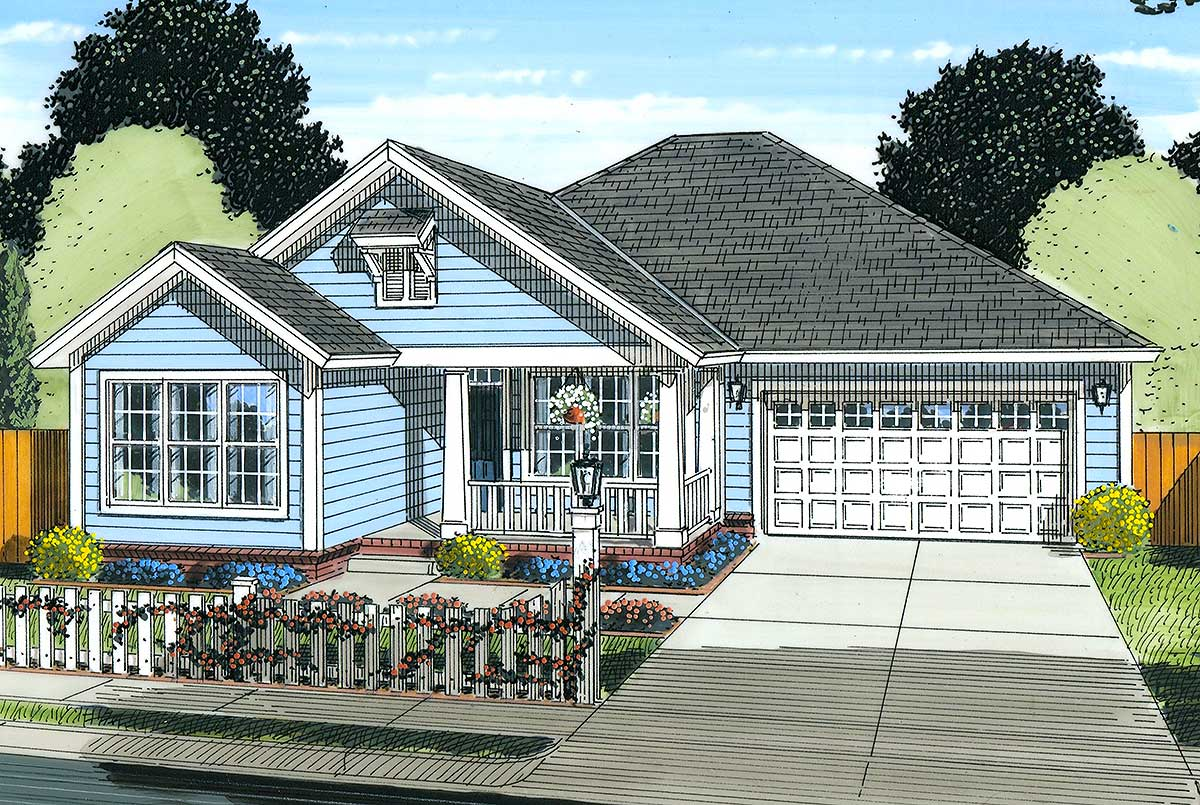 Flexible cottage house plan 52204wm architectural for Flexible house plans