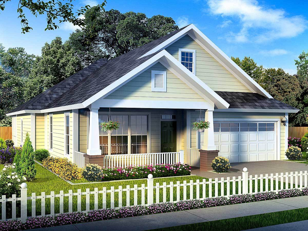 Narrow lot home plan lives large 52210wm architectural for House plans for large lots