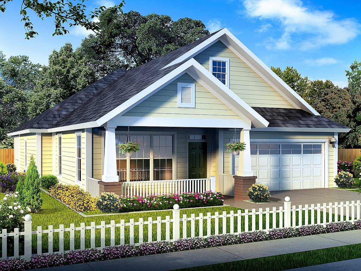 narrow lot home plan lives large 52210wm 1st floor