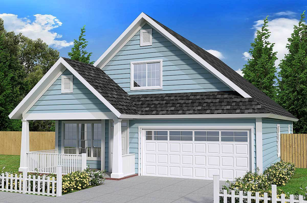 Cottage with First Floor Master - 52213WM | Architectural ...