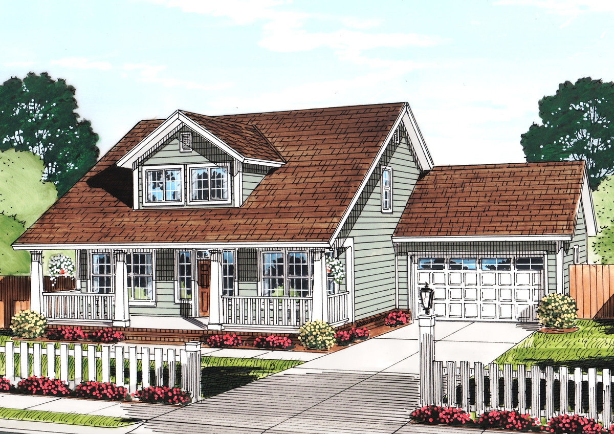 Cozy cottage with removable garage 52222wm 1st floor for Cozy cottage home plans