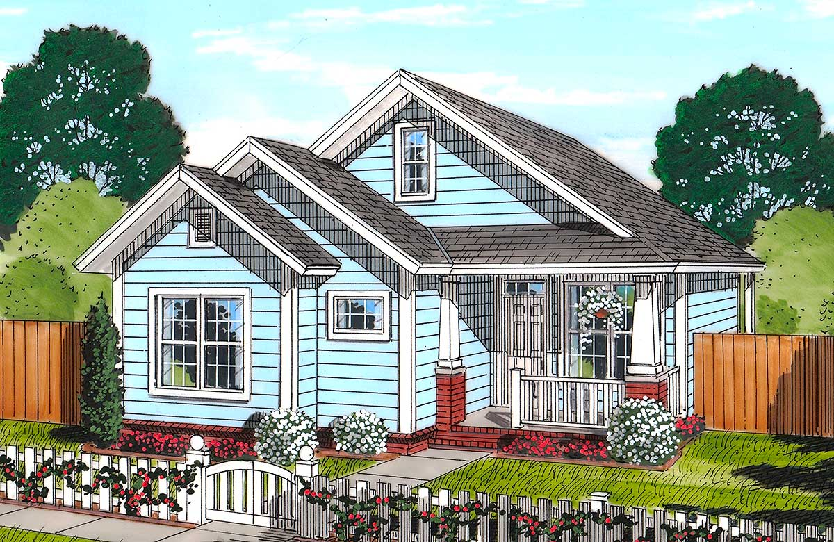 Cozy cottage 52228wm architectural designs house plans for Cosy house plans