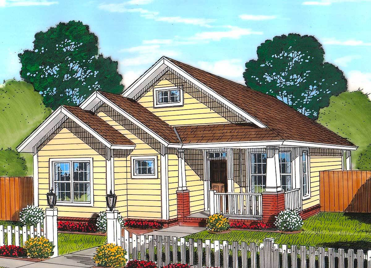 Cozy country cottage 52231wm architectural designs for Cozy cottage plans