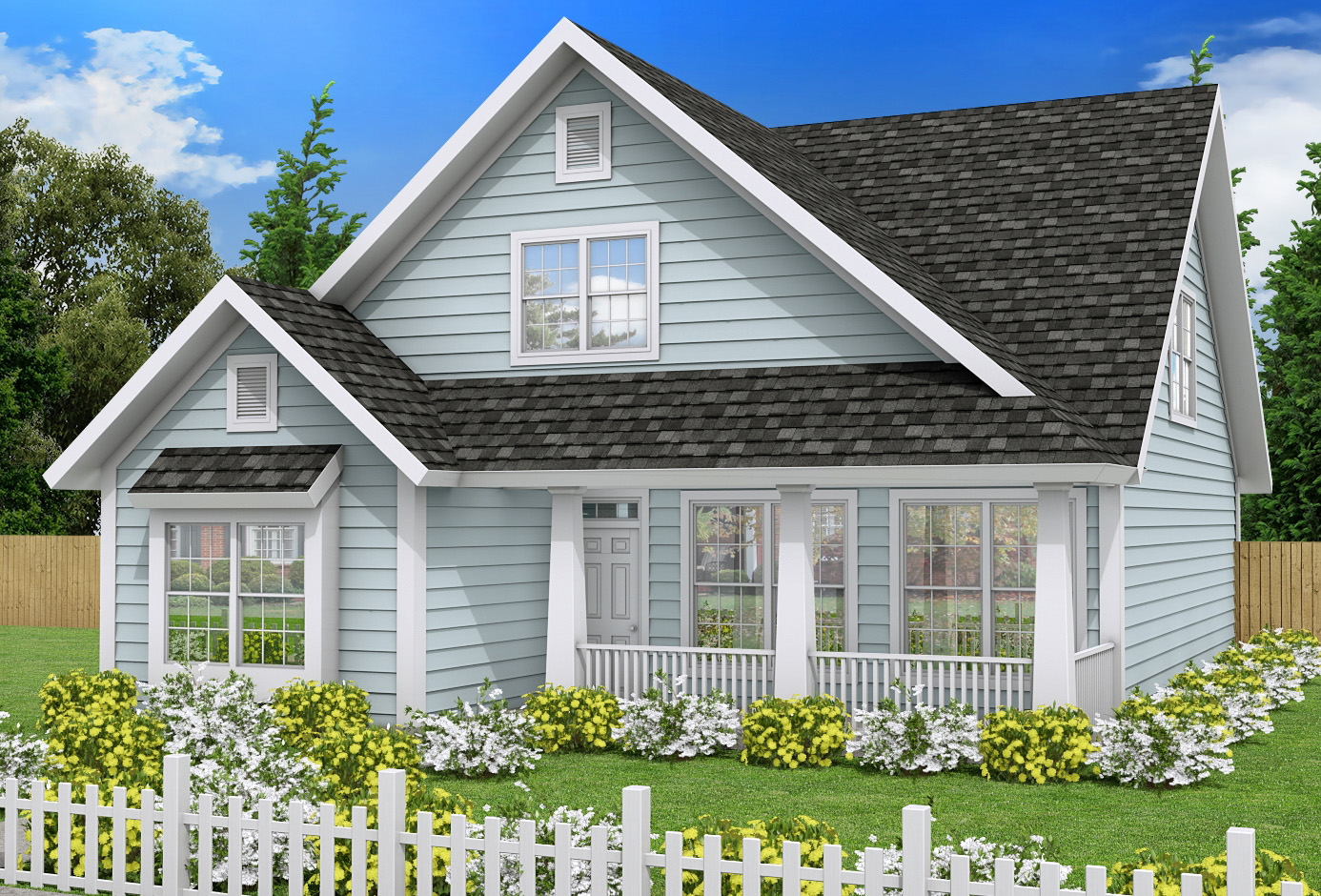 Country home with first floor master 52233wm for House plans first floor master