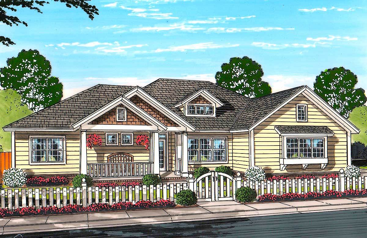 Country Living 52238wm Architectural Designs House Plans