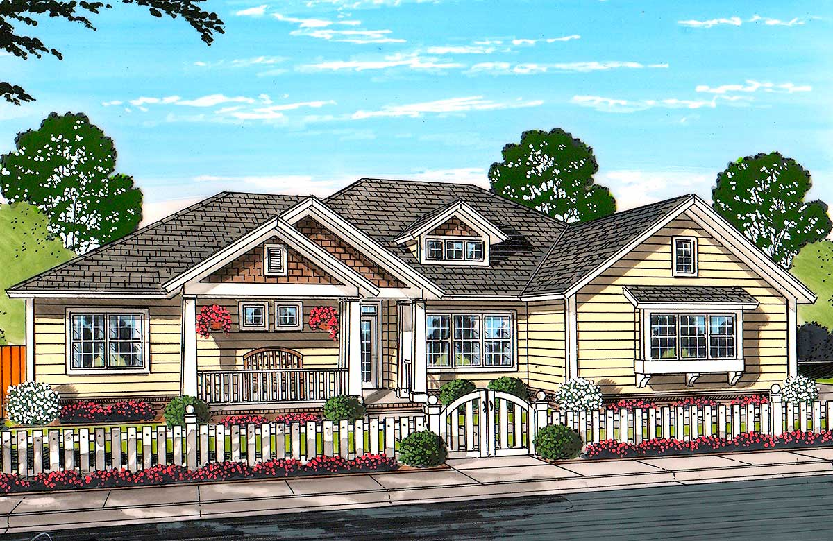 Country living 52238wm architectural designs house plans for Country living home designs
