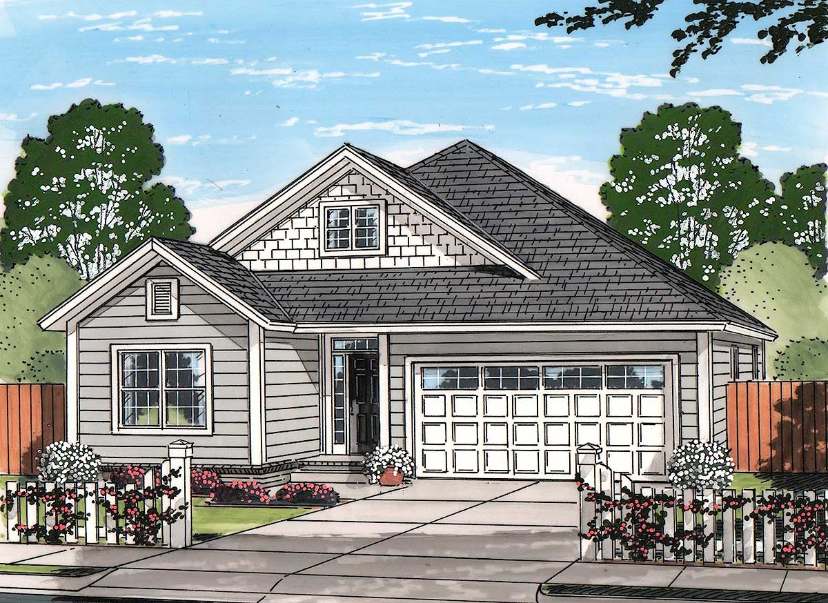 Craftsman cottage 52246wm architectural designs for Craftsman cottage home plans