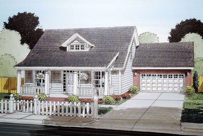 3 Bed Bungalow with Attached Garage - 52252WM | Architectural ...