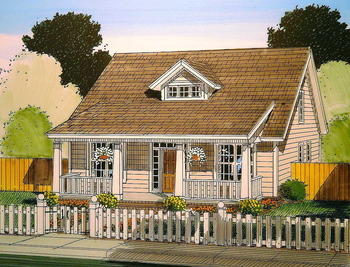 Cozy 3 bed bungalow house plan 52254wm architectural for Bunk house plans