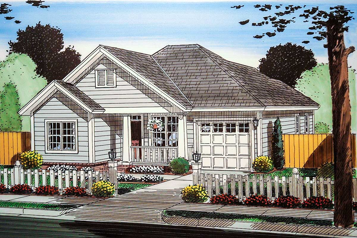 Compact cottage 52257wm architectural designs house for Compact cottages