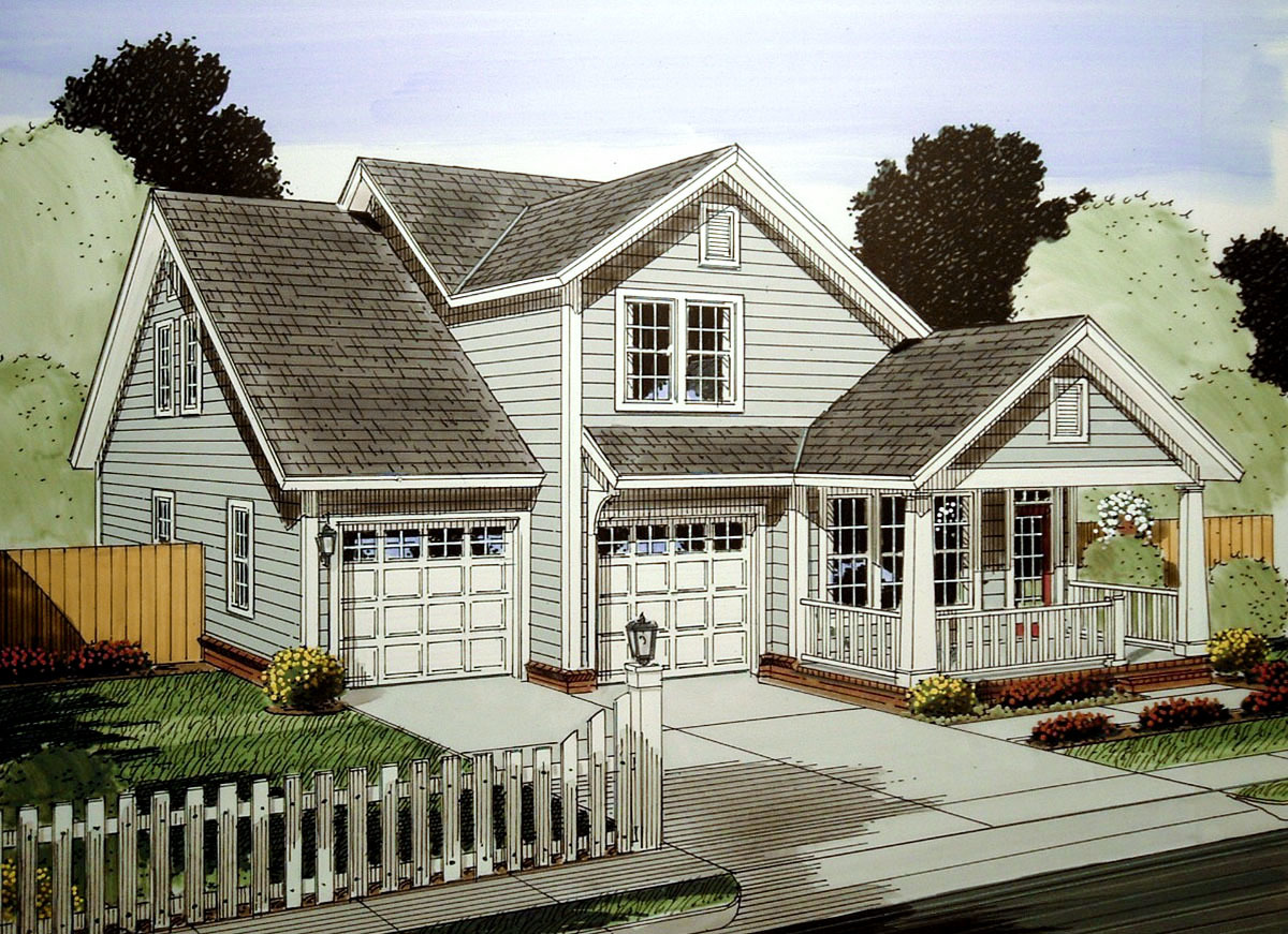 Cottage with first floor master suite 52261wm - First floor master bedroom house plans ...