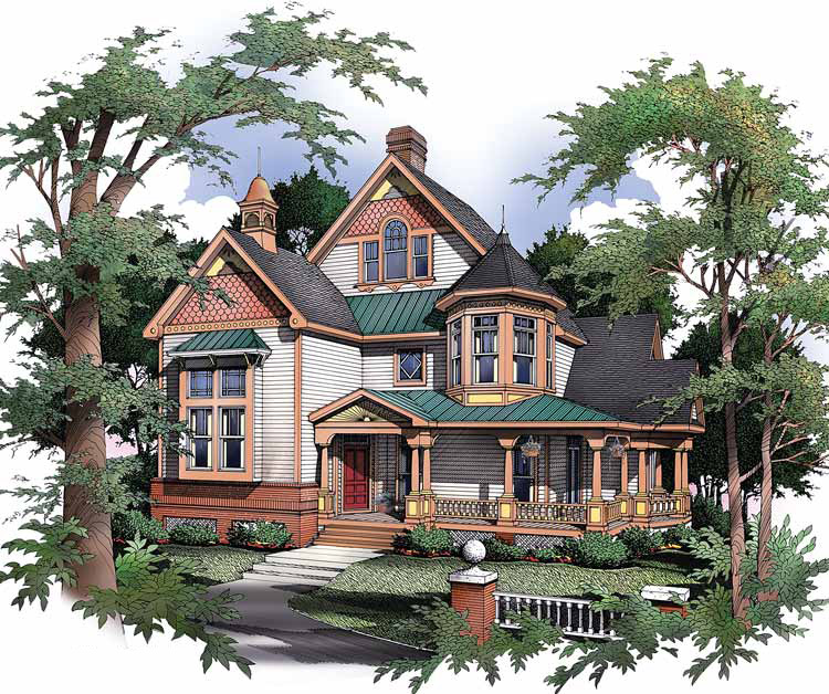 expandable victorian house plan - 54003lk | architectural designs