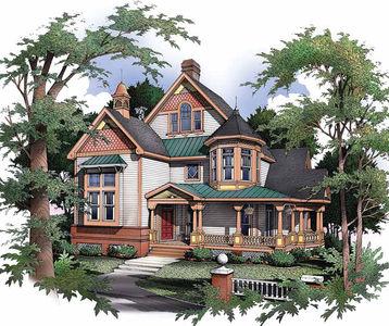 Expandable Victorian House Plan 54003lk Architectural