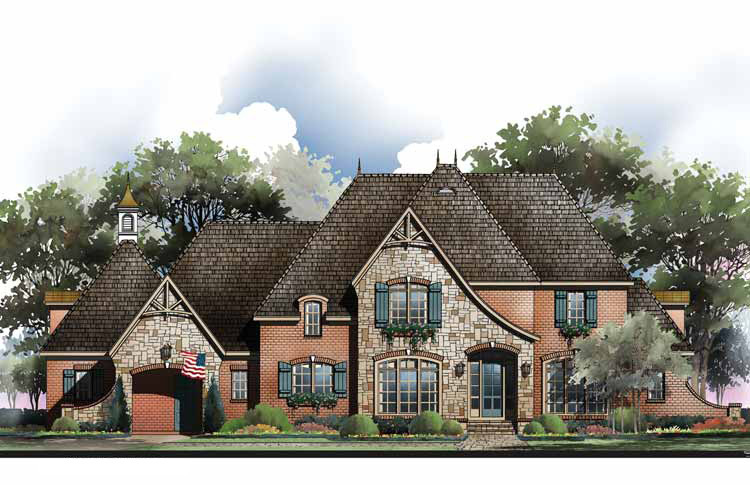 french country home plan with options 54010lk 01