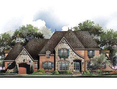 French Country Home Plan with Options - 54010LK thumb - 02