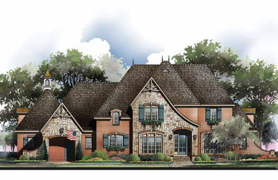 French Country Home Plan with Options - 54010LK thumb - 01