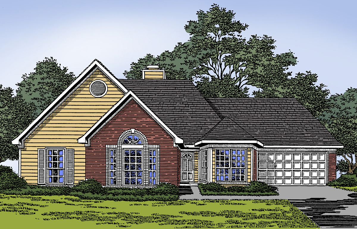 Traditional Home Plan With Contemporary Amenities 5403lk