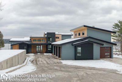Light-Filled Mountain Modern House Plan - 54202HU | Architectural ...