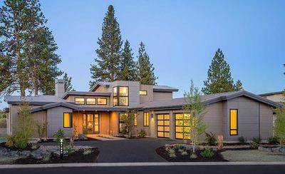 Light Filled Mountain Modern House Plan HU