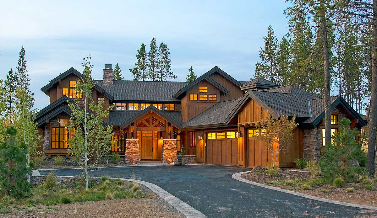 Mountain luxury with bridge balcony 54204hu for Colorado style home plans