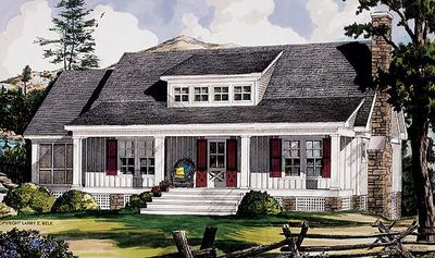 Adirondack style getaway 5433lk architectural designs for Adirondack style home plans
