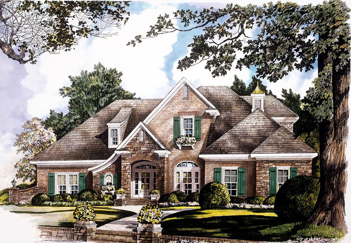 European Luxury House Plan 5437lk Architectural