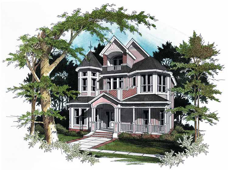 Stunning victorian 5451lk architectural designs for Original victorian house plans