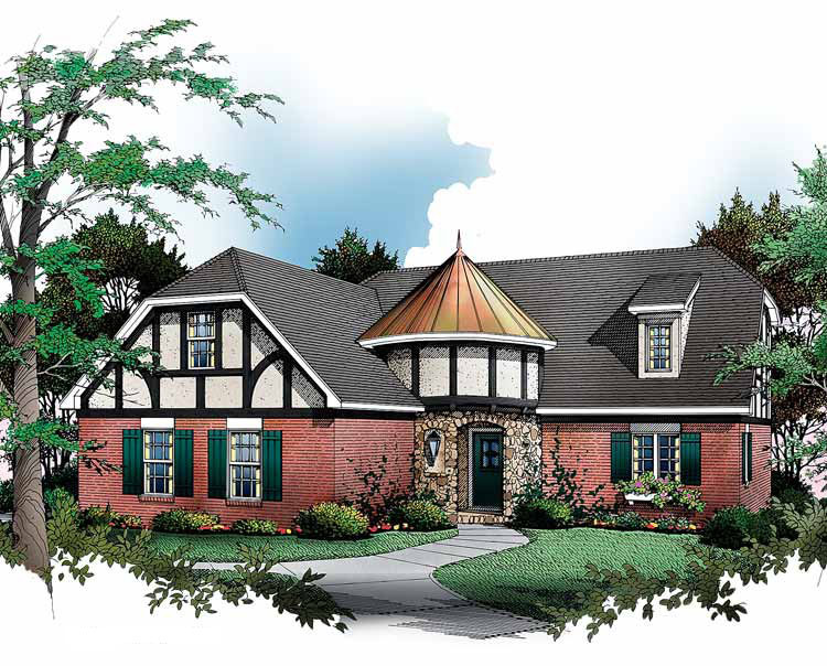 English tudor cottage 5472lk architectural designs for English tudor cottage house plans
