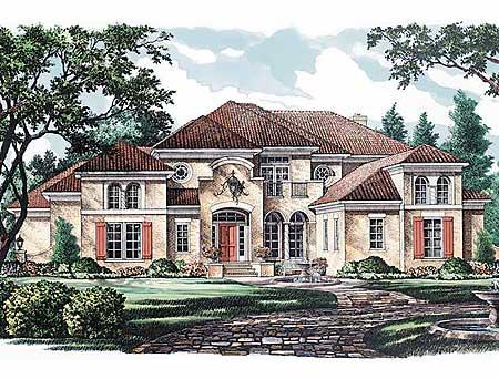 Classic showpiece luxury home plan 5473lk for Classic mediterranean house
