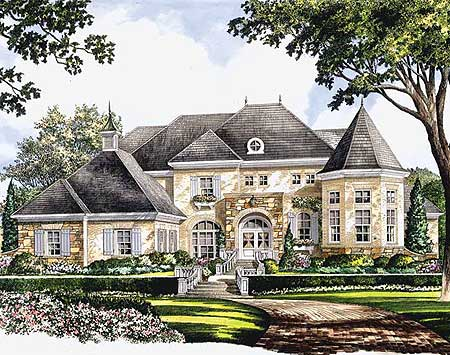 signature oval shaped dining room 5474lk 1st floor eplans french country house plan separate pool house