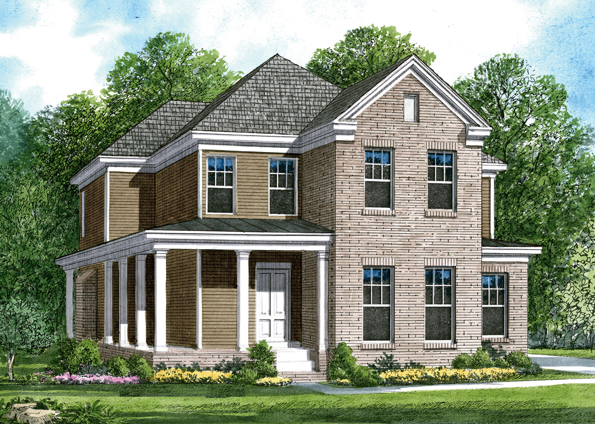 Charleston style house plan 5487lk architectural for Charleston style home floor plans