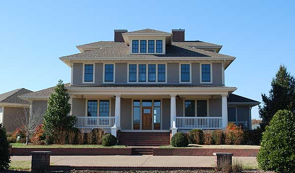 Impressive 2 story craftsman house plan 5496lk 1st for House plans with 2 story library